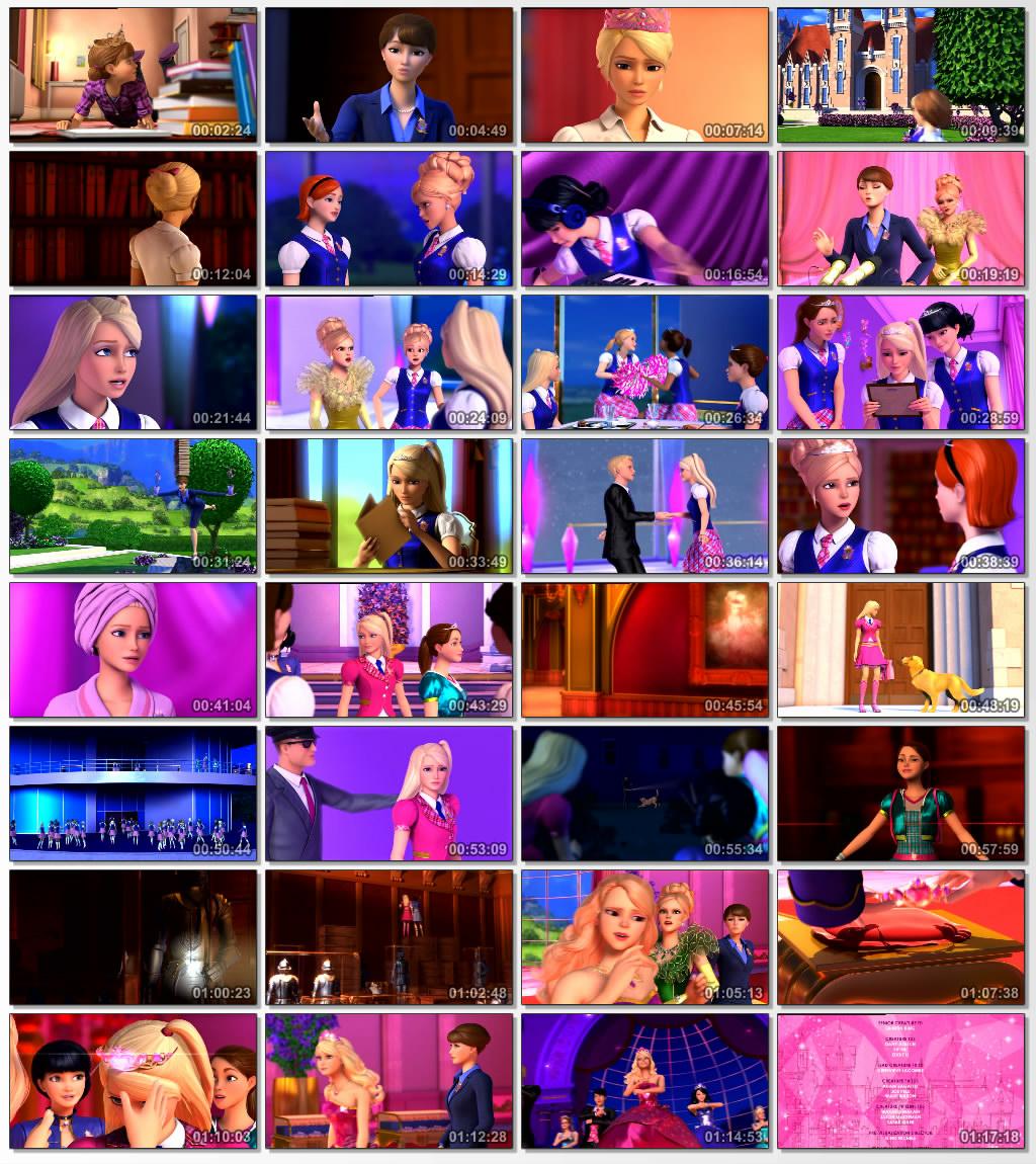 دانلود انیمیشن کارتونی Barbie Princess Charm School 2011