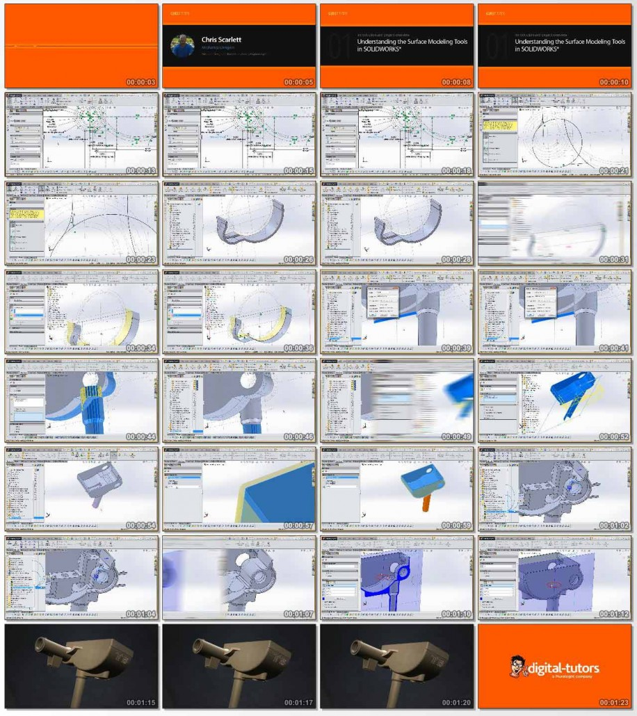 Understanding the Surface Modeling Tools in SOLIDWORKS