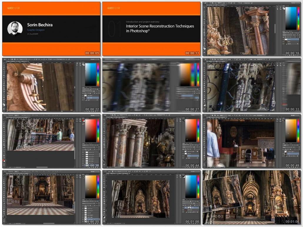 Interior Scene Reconstruction Techniques in Photoshop
