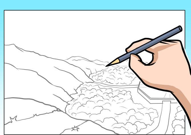 چگونه یک منظره زیبا نقاشی کنیم !