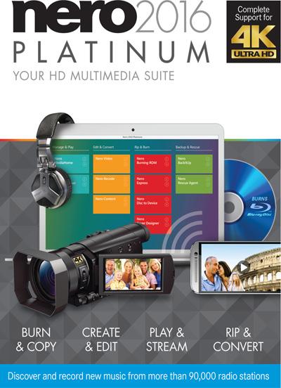مجموعه تمامی ابزارهای نرو Nero 2016 Platinum 17.0.04500 Retail + Content Pack