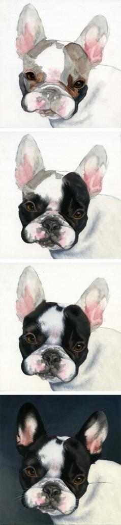 Watercolor Realistic Dog Portrait