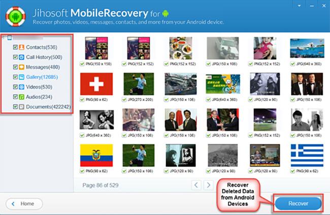 لاسترجاع الملفات اجهزة Android كيجن Jihosoft Android Phone Recovery 8.0.8 بوابة 2016 jihosoft-android-dat