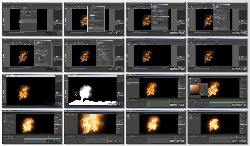 Simulating A Burning Tree In Maya