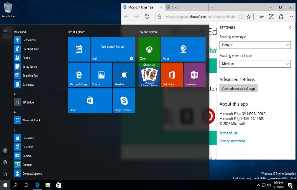 دانلود ویندوز 10 رداستون Windows 10 Redstone 2 v14905
