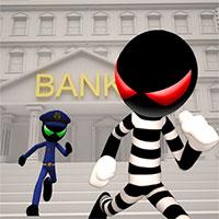 دانلود بازی Stickman Bank Robbery Escape برای اندروید