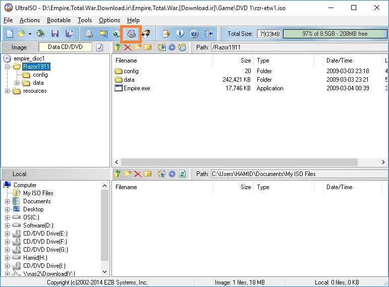 آموزش نصب و کار با نرم افزار UltraISO