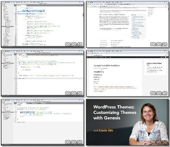 دانلود دوره آموزشی Customizing WordPress Themes with Genesis از Lynda