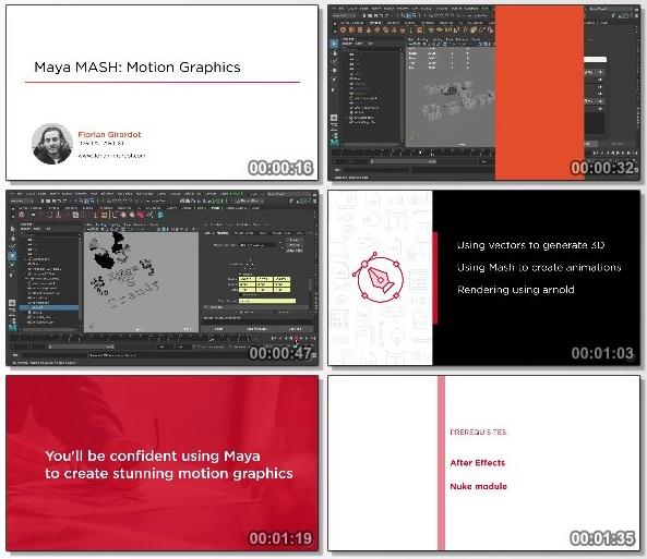 دانلود دوره آموزشی Maya MASH: Motion Graphics از Pluralsight