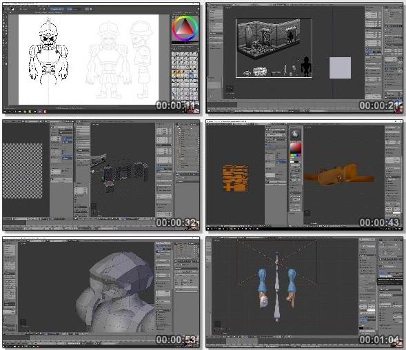 دانلود فیلم آموزش مدل سازی 3بعدی بازی و انیمیشن در Blender از Udemy