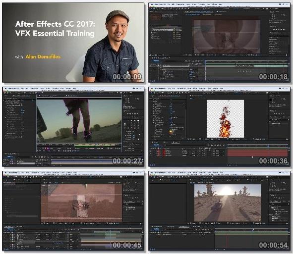 دانلود دوره آموزشی After Effects CC 2017: VFX Essential Training از Lynda