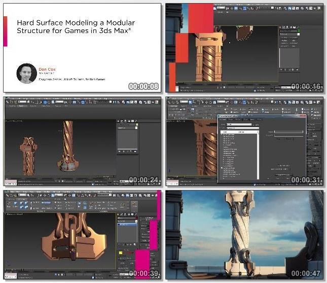 دانلود دوره آموزشی Hard Surface Modeling a Modular Structure for Games in 3ds Max