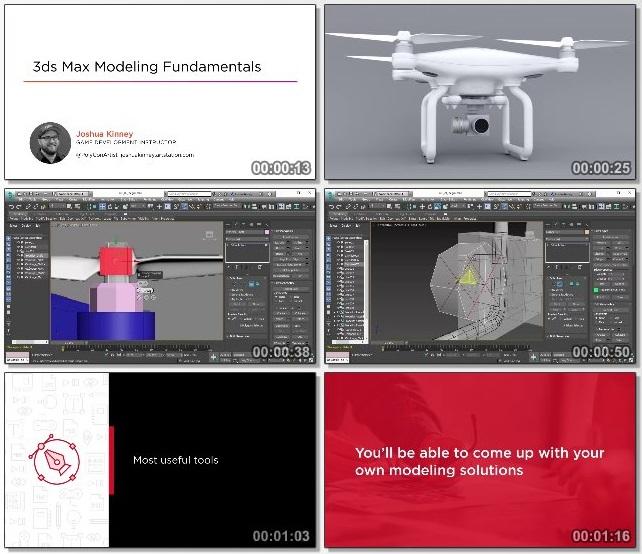 دانلود دوره آموزشی 3ds Max Modeling Fundamentals از Pluralsight