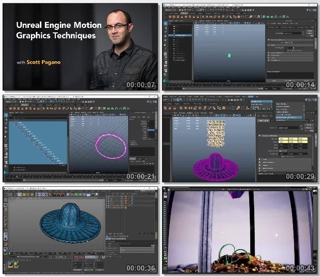 دانلود دوره آموزشی Unreal Engine Motion Graphics Techniques از Lynda