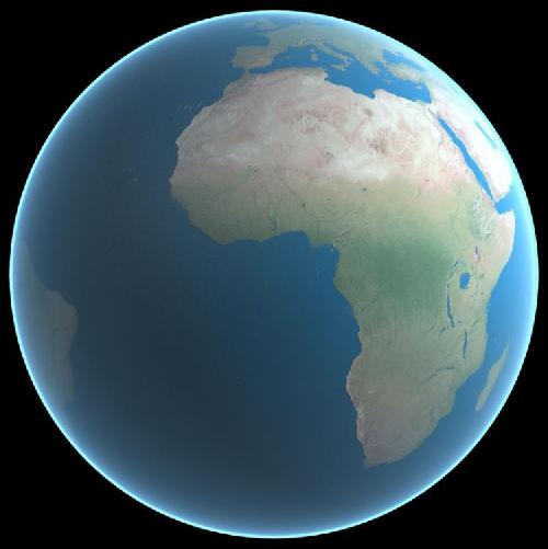 3D Earth Model center