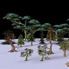 3D models of trees for games logo