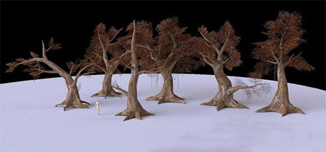 3D models of trees for games center