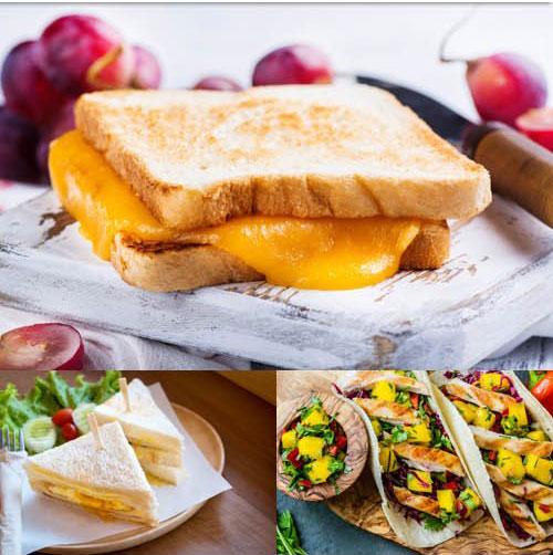 Stock Photos-Appetizing Fastfood center