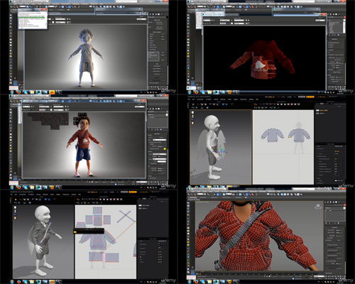 Complex clothes in 1 hour Marvelous Designer+3ds max center