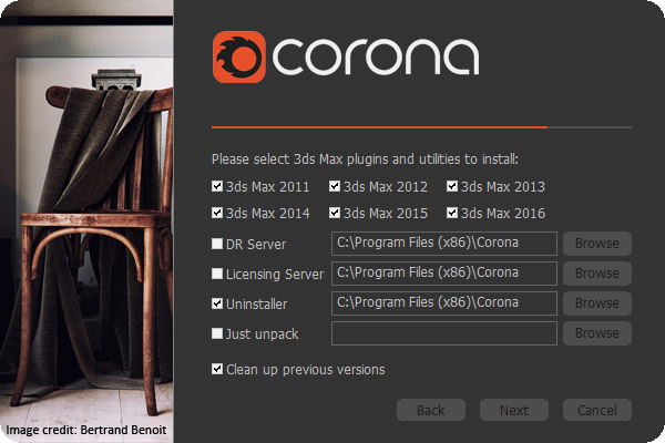 Corona Renderer 1.6.3 for 3ds Max 2012 - 2018 center