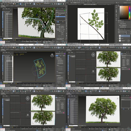 Creating Low Poly Trees in 3ds Max center