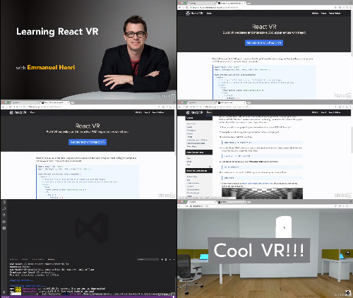 Lynda - Learning React VR center
