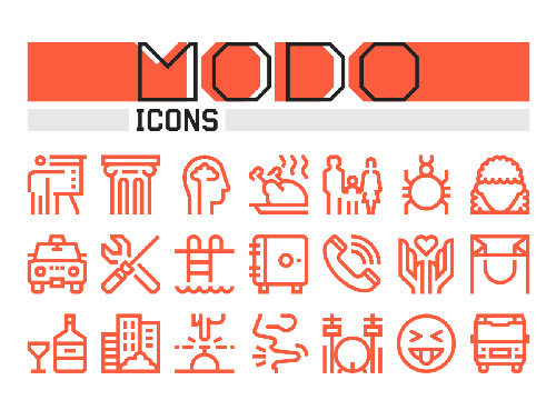 Modo Icons Collection center