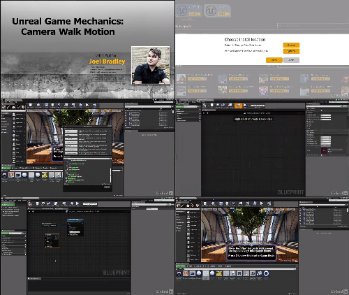 Lynda - Unreal Game Mechanics Camera Walk Action cover center