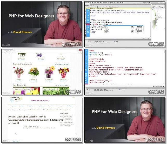 دانلود دوره آموزشی PHP for Web Designers از Lynda