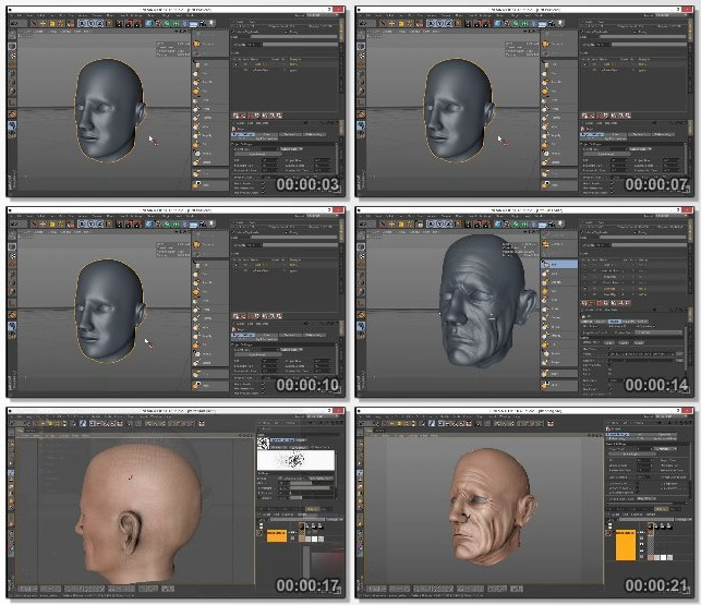 دانلود دوره آموزشی Sculpting and Painting a Head in Cinema 4D