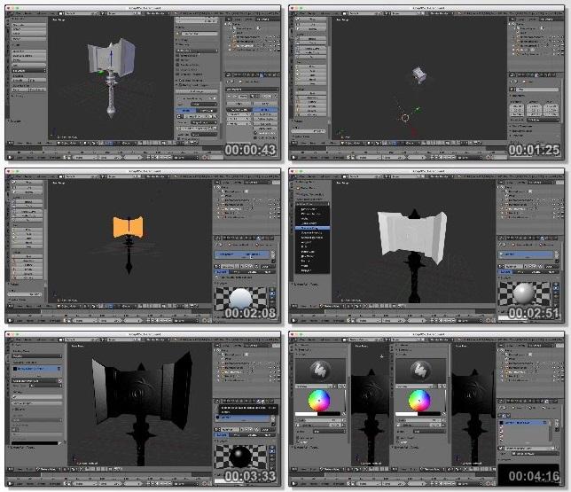 دانلود دوره آموزشی Texturing a Game Asset in Blender از Lynda