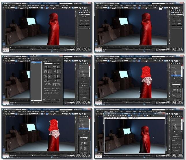 دانلود دوره آموزشی Cloth Simulation: 3ds Max از Lynda