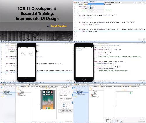 iOS 11 Development Essential Training Intermediate UI Design center