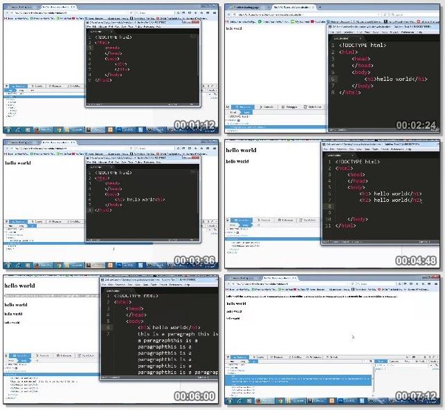 فیلم آموزشی Introduction to basic html and css concepts
