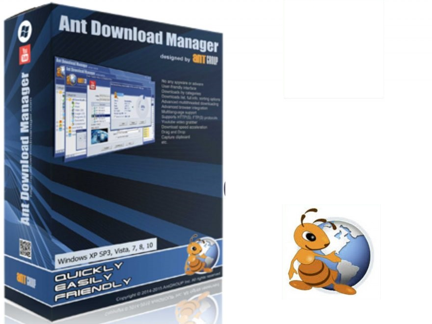Ant Download Manager center