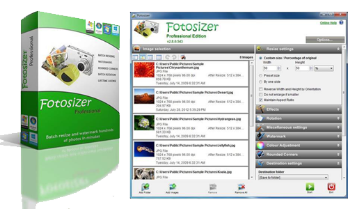 Fotosizer center