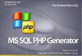 MS SQL PHP Generator center