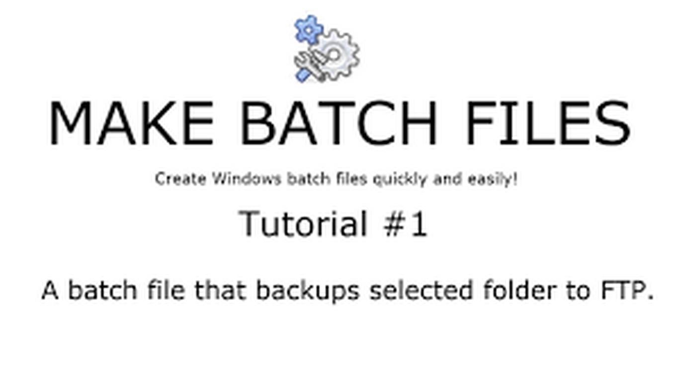 make batch file center