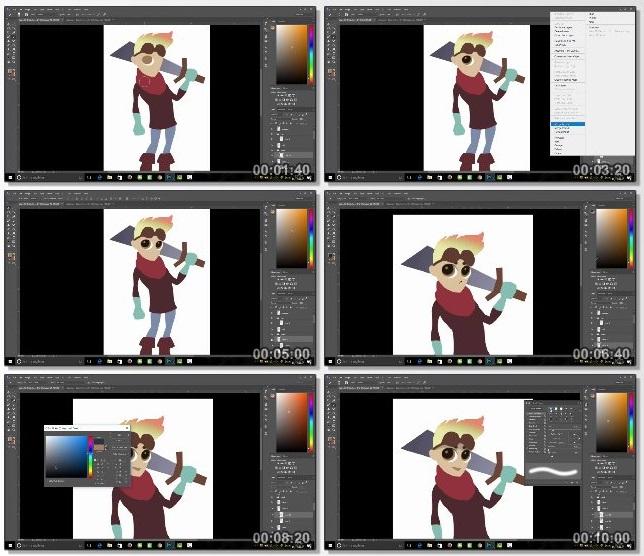 دانلود فیلم آموزشی The Ultimate 2D Game Character Design & Animation Course