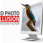 3D Photo Illusion Photoshop Action logo