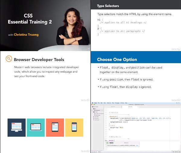 CSS Essential Training 2 center
