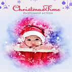 ChristmasTime Photoshop Action logo