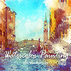 Full Watercolor Painting Photoshop Action logo