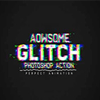 Glitch Photoshop Action logo