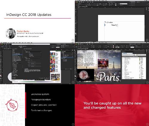 InDesign CC 2018 Updates center