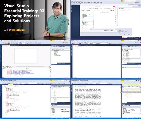 Visual Studio Essential Training: 03 Exploring Projects and Solutions center