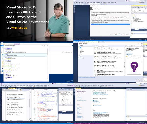 Visual Studio Essential Training: 08 Extend and Customize center