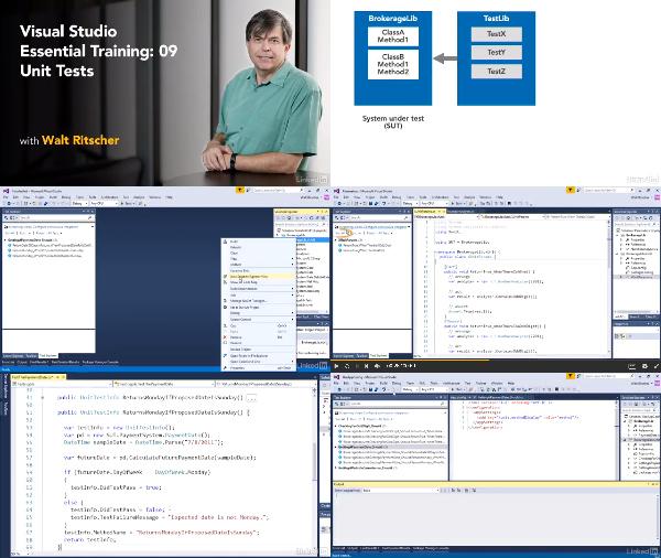 Visual Studio Essential Training: 09 Unit Tests center