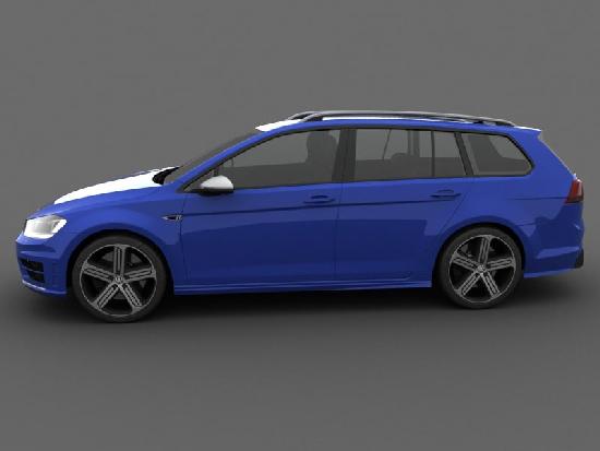 Volkswagen Golf R Variant 2015 3D Model center