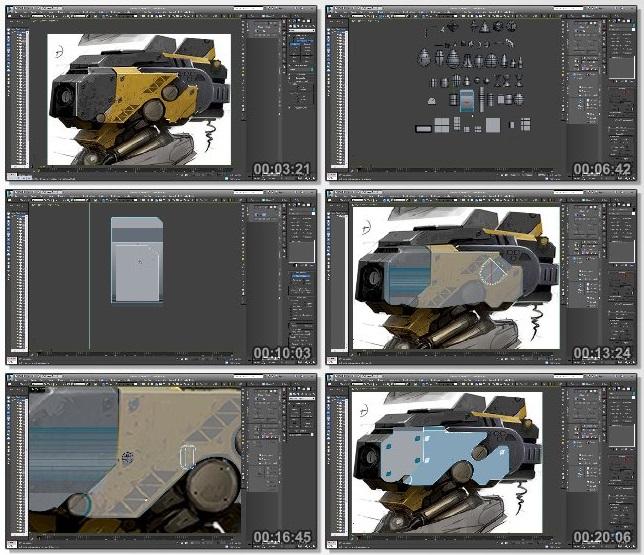 دانلود فیلم آموزشی Gumroad - Zbrush 4R7 Robot Head modeling tutorial series